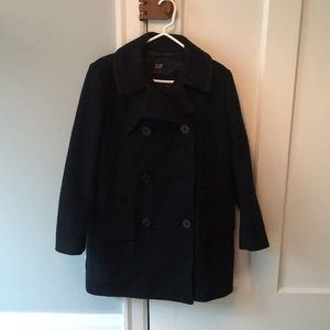 Women's Navy Pea Coat - Gap